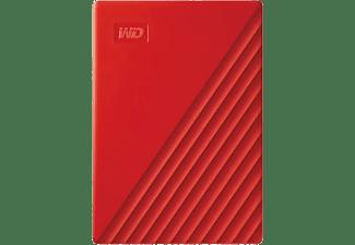 WD My Passport® Externe harde schijf (2.5 inch) 4 TB Rood USB 3.0