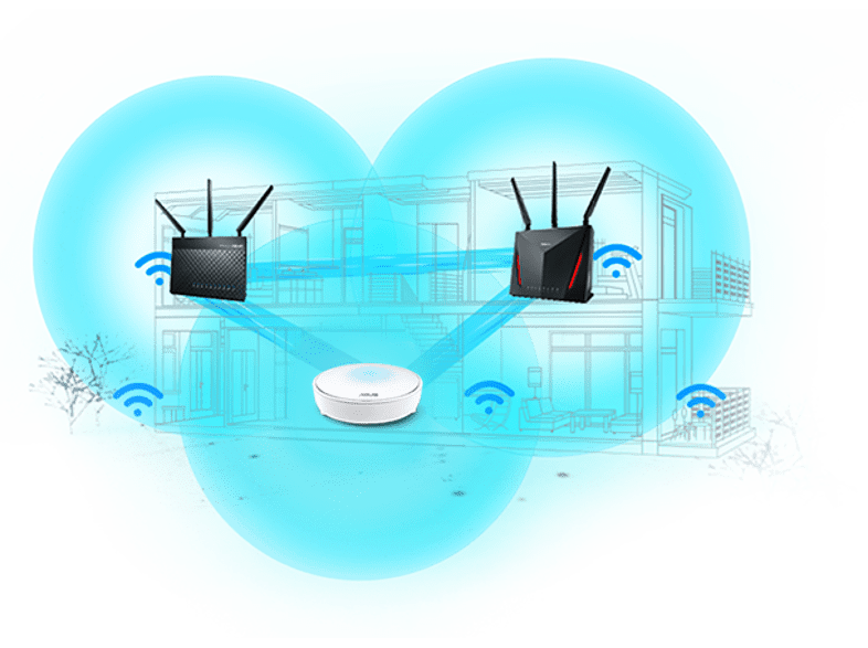 ASUS Lyra MAP-AC2200 mesh router 1 db
