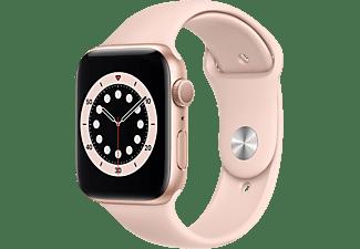 APPLE Watch Series 6 44mm goud aluminium / roze sportband