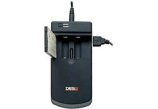 Universele Lader met USB Zwart