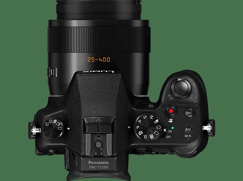 PANASONIC Lumix DMC-FZ1000 LEICA Bridgekamera, 20.1 Megapixel, 16x opt. Zoom, Schwarz