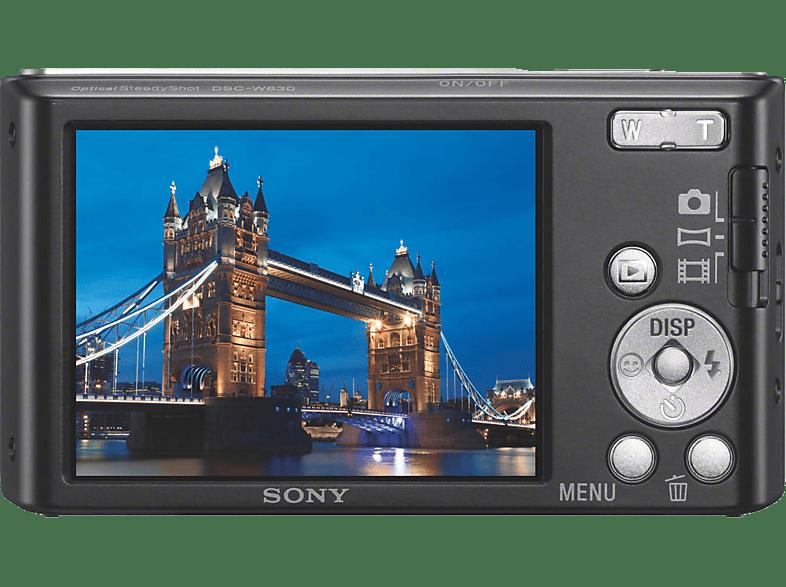 SONY Cyber-shot DSC-W830 Zeiss Digitalkamera, 20.1 Megapixel, 8x opt. Zoom, Schwarz