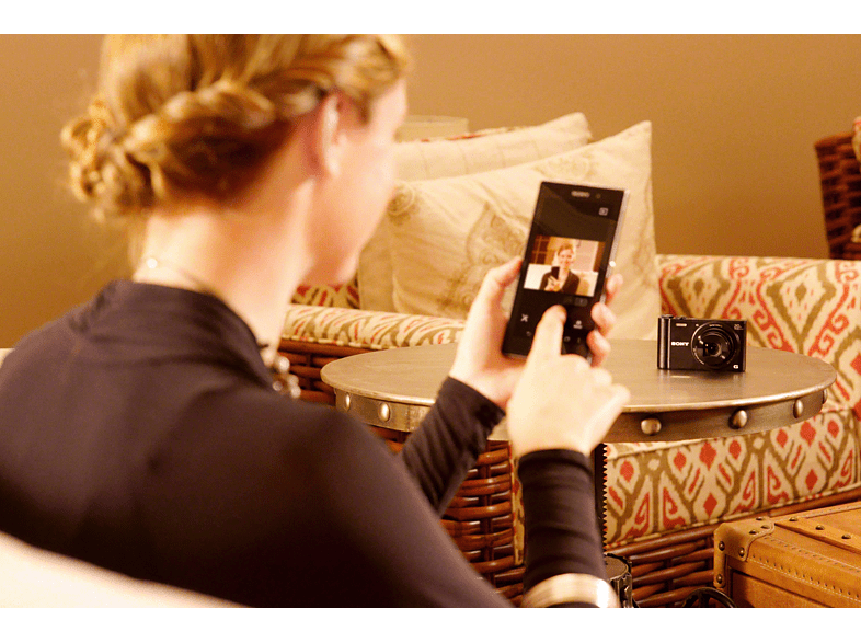 SONY Cyber-shot DSC-WX350 Digitalkamera, 18.2 Megapixel, 20x opt. Zoom, Schwarz