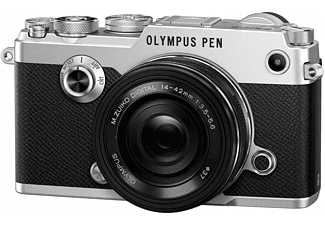 Olympus PEN-F systeemcamera Zilver + 14-42mm II