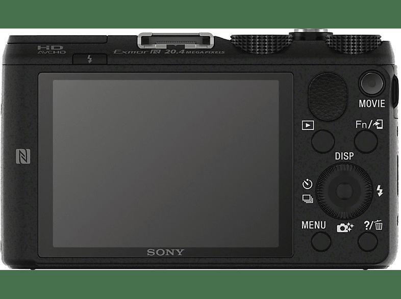 SONY Cyber-shot DSC-HX60 Digitalkamera, 20.4 Megapixel, 30x opt. Zoom, Schwarz