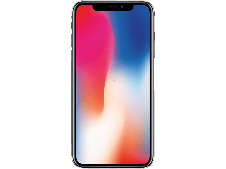 APPLE iPhone X, Smartphone, 64 GB, Silber