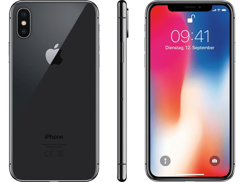 APPLE iPhone X, 256 GB, Space Grey