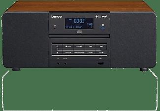 DAB+ Tafelradio Lenco CD, USB, AUX, DAB+ Hout