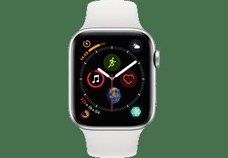 APPLE Watch Series 4 44mm zilver aluminium-wit sportbandje
