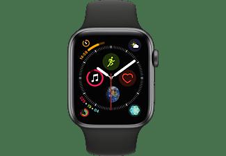 APPLE Watch Series 4 44mm spacegrijs aluminium-zwart sportbandje