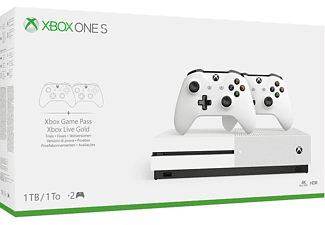 Xbox One S 1TB + 2 Wireless Controllers