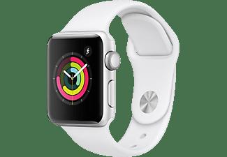 APPLE Watch Series 3 38mm zilver aluminium-wit sportbandje