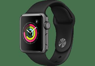 APPLE Watch Series 3 38mm spacegrijs aluminium-zwart sportbandje