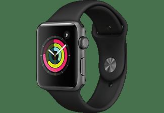 APPLE Watch Series 3 42mm zilver aluminium-zwart sportbandje
