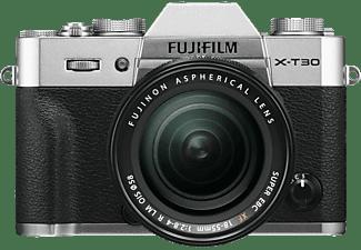 Fujifilm X-T30 systeemcamera Zilver + 18-55mm f-2.8-4.0 OIS Zwart