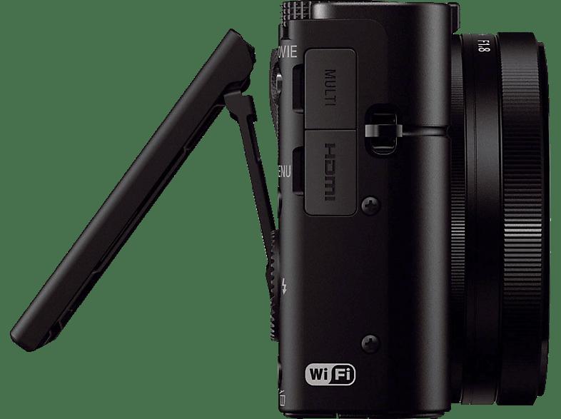 SONY Cyber-shot DSC-RX100 III Zeiss Kit Digitalkamera, 20.1 Megapixel, 2.9x opt. Zoom, Schwarz