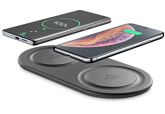Cellularline Qi Ladegerät Inductielader 2000 mA Uitgangen Qi-standaard Zwart
