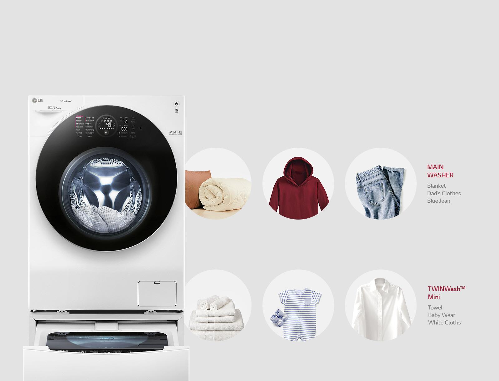 Separata tvättar