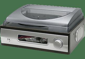 KARCHER Schallplattenspieler KA 8050 Schallplattenspieler Silber/Mahagoni-Nachbildung