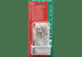 KONSTSMIDE LED Lichterkette, 20 warm weiße Dioden LED Lichterkette, Transparent