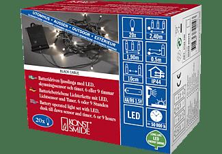 KONSTSMIDE 3722-100 LED Lichterkette, Schwarz, Warmweiß