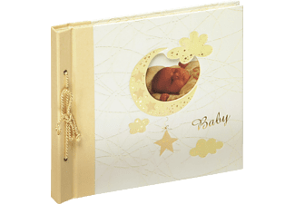 WALTHER UK-114 Bambini Fotoalbum, 60 Seiten, Kunstdruckeinband mit Goldprägung, Beige