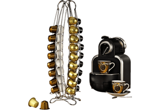 """XAVAX Kaffee-Kapselständer """"Torre"""" für Nespresso, 40 Kapseln, Silber"""