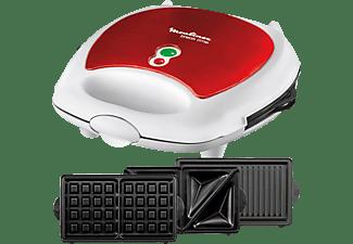 MOULINEX SW6125 3-in-1 Snack-Kombigerät red ruby
