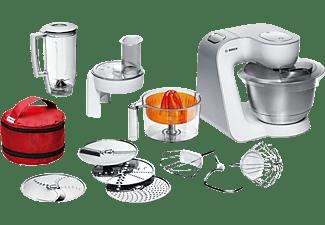 BOSCH Küchenmaschine MUM 54 W 41 STYLINE WEISS/SILBER