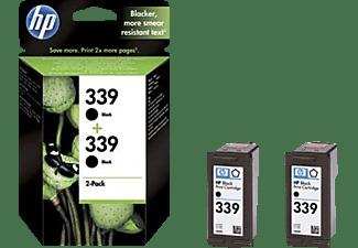 HP Tintenpatrone 339 2er Pack, schwarz (C9504EE)