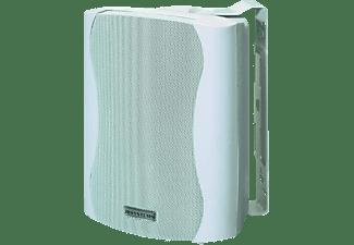 JB SYSTEMS K50 Designlautsprecher mit ansprechendem Kunststoff-gehäuse (Paar), weiß