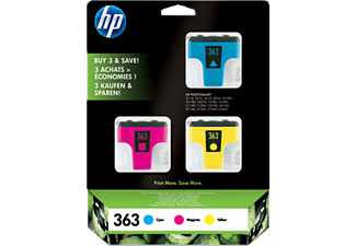 HP Tintenpatrone 363 3er Pack, farbig (CB333EE)