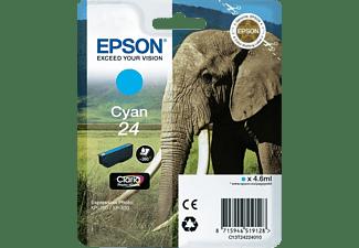 EPSON Tintenpatrone 24, cyan (C13T24224012)