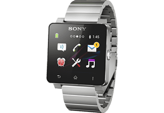 SONY SmartWatch 2 Smartwatch Aluminium (Gehäuse) und rostfreier Stahl, Silber