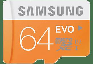 SAMSUNG MB-MP64DA, Micro-SDXC Speicherkarten, 64 GB, 48 MB/s
