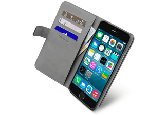 CELLULAR LINE Buchklapptasche Book Agenda mit Geld- und Kartenfach für iPhone 6 4.7 Zoll, schwarz