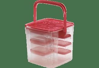 XAVAX Frischhaltedosen-Set, 18-tlg., Rot