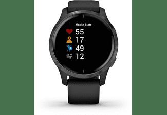 Smartwatch - Garmin Venu, GPS, Fitness, Seguimiento salud, 20 h, Silicona, Azul/Negro