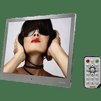 HAMA 97SLP Digitaler Bilderrahmen , 24.64 cm, 1.024 x 768 Pixel, Silber