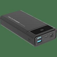 REALPOWER 306949 PB-20K PD Powerbank 20000 mAh Schwarz