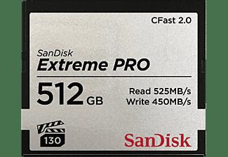 SANDISK Extreme PRO®, CFast 2.0 Speicherkarte, 512 GB, 525 MB/s