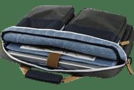 HAMA Florenz II Notebooktasche, Umhängetasche, 15.6 Zoll, Dunkelgrau/Marineblau