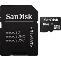 SANDISK SDSDQM-016G-B35A, Micro-SDHC Speicherkarte, 16 GB