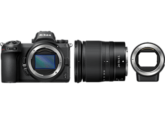 NIKON Z6 Kit FTZ  Adapter Systemkamera 24.5 Megapixel mit Objektiv 24-70 mm , 8 cm Display   Touchscreen