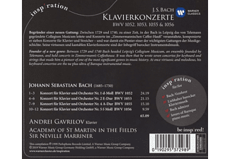Andrej Gawrilow, Academy of St. Martin in the Fields - Klavierkonzerte BWV 1052,1053,1055 & 1056  - (CD)