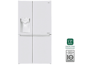 Frigorífico americano - LG GSL760SWXV, Total No Frost, 601 L, 179 cm, 39 dB, Enfriamiento rápido, Blanco