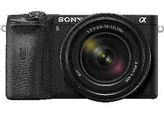 Cámara EVIL - Sony a6600, Sensor APS-C CMOS Exmor R, 24.2 MP, Bionz X + Objetivo E 18-135 mm f/3.5-5.6 OSS