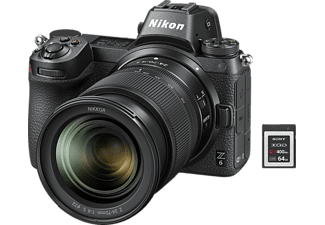 NIKON Z6 Kit 64 GB XQD Systemkamera 24.5 Megapixel mit Objektiv 24-70 mm, 8 cm Display Touchscreen