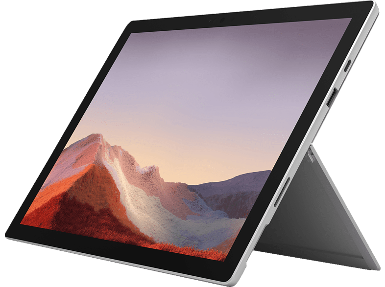 MICROSOFT Surface Pro 7, Convertible mit 12.3 Zoll Display, Core™ i3 Prozessor, 4 GB RAM, 128 GB SSD, Intel® UHD-Grafik , Platinum