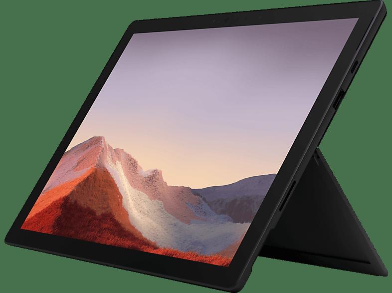 MICROSOFT Surface Pro 7, Convertible mit 12.3 Zoll Display, Core™ i7 Prozessor, 16 GB RAM, 256 GB SSD, Intel® Iris™ Plus Grafik, Matte Black